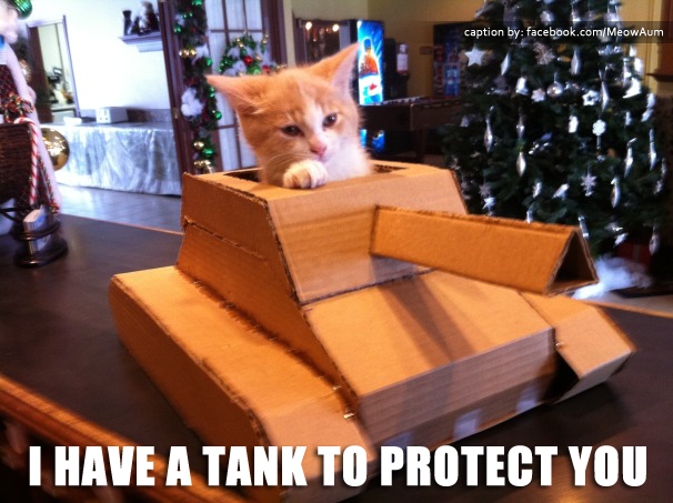 I Have a Tank to Protect You