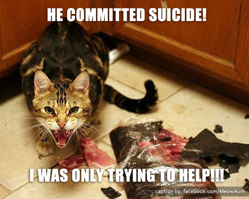He Committed Suicide! I Was Only Trying to Help!!!