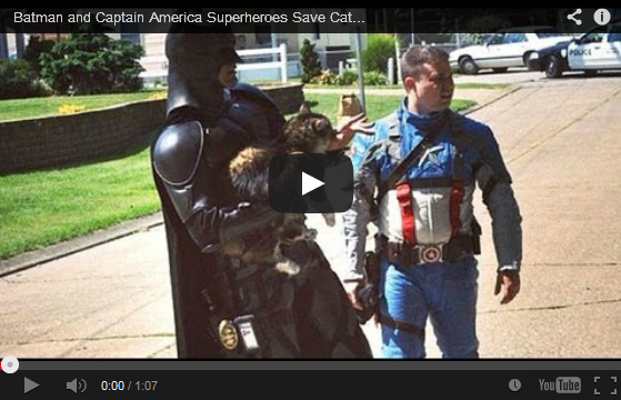 Real-Life Batman and Captain America Superheroes Save Cat From Burning Building