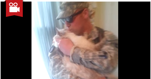 Kitty Excited to See Daddy Back Home